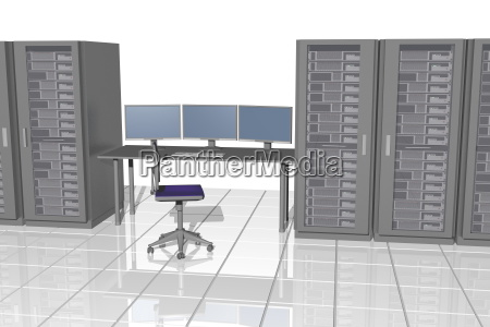 server room with table