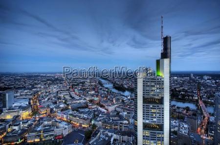 frankfurt panorama with bank tower