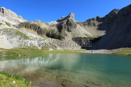 mountain lake in the mountains lechtaler