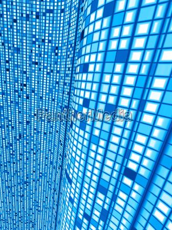 blue matrix wave background 02