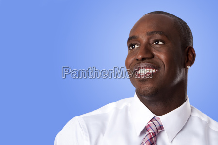 happy african american business man