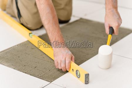 home improvement renovation handyman laying