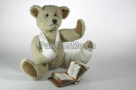 reading infringer teddy bear