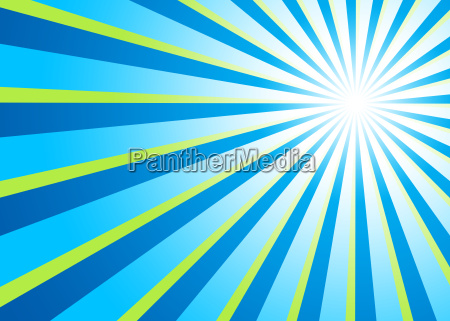 background light rays blue green