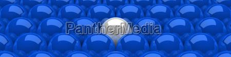 3d spheres blue white 05