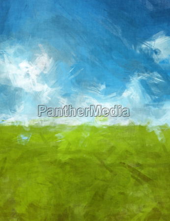blue green abtsract landscape