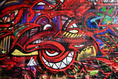 grafitti in werregaaren straat