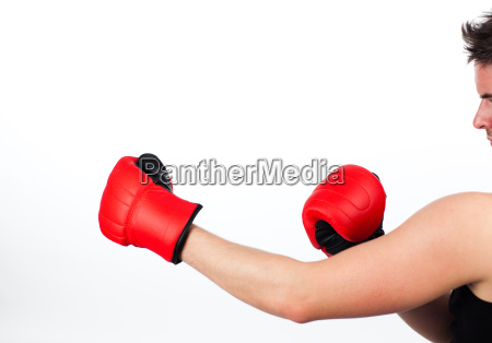 man in a boxing fight