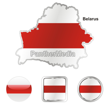 flag of belarus map and internet
