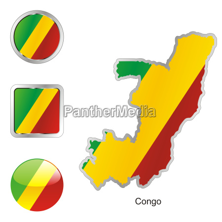 congo map and internet buttons