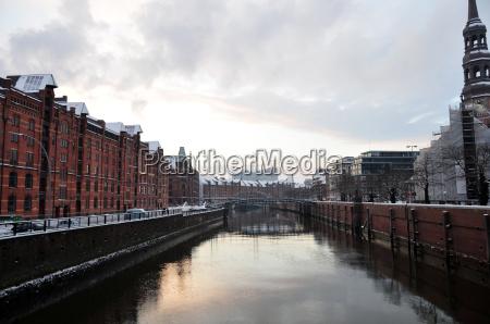 speicherstadt in winter