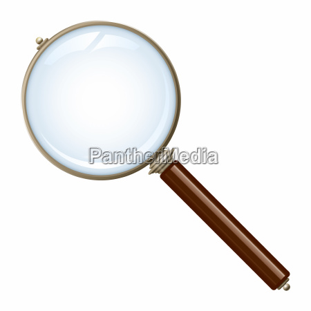 old magnifying glass
