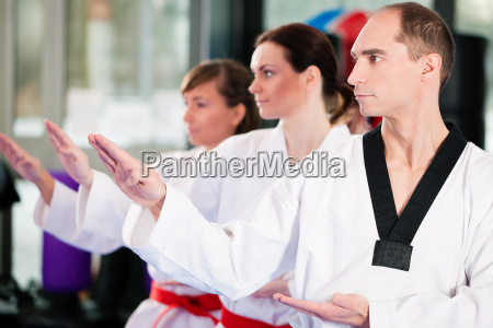 martial arts training in the gym