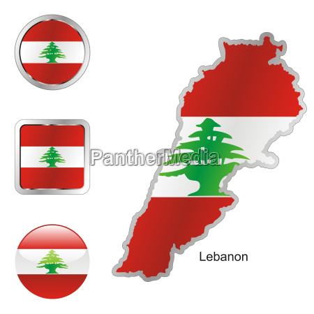 lebanon map and internet buttons