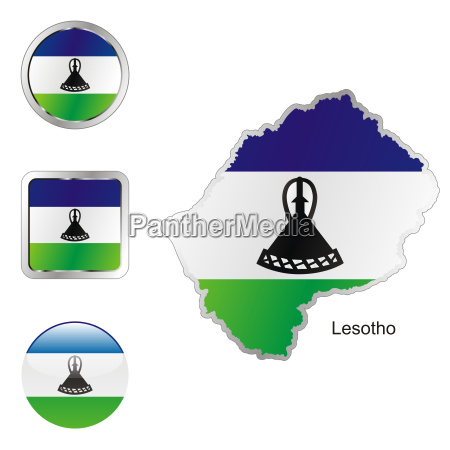 lesotho map and internet buttons