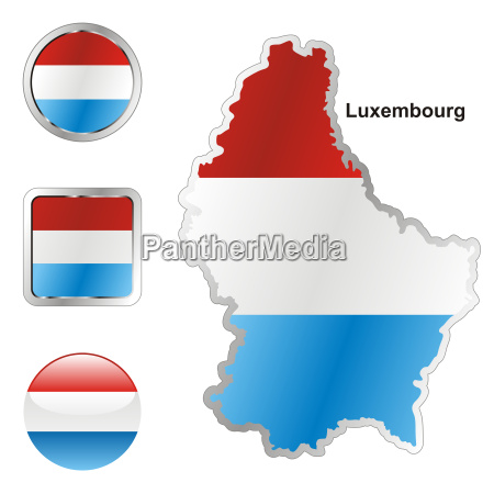luxembourg map and internet buttons