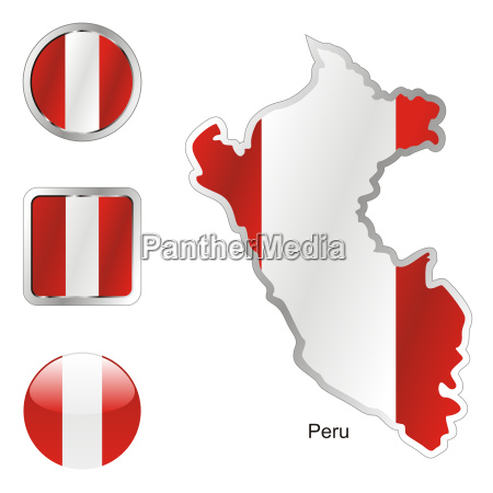 peru map and internet buttons