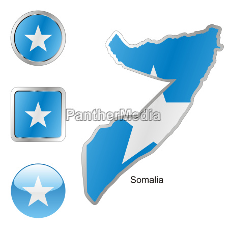 somalia map and internet buttons