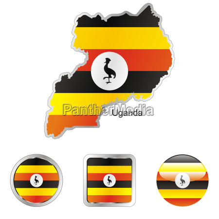 uganda map and internet buttons