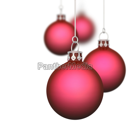 christmas balls background 11 red