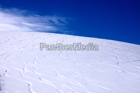 ski tracks in the snow
