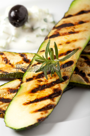 grilled zucchini with rosemary