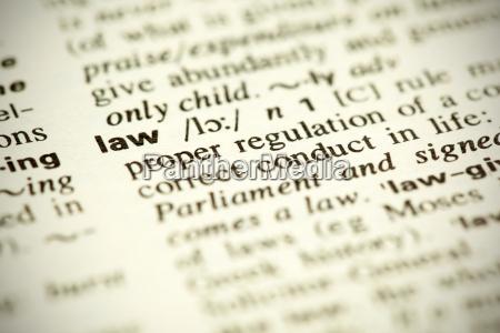 dictionary definition law vignette