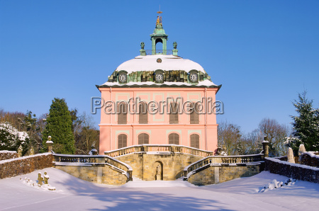 moritzburg little pheasant castle in winter