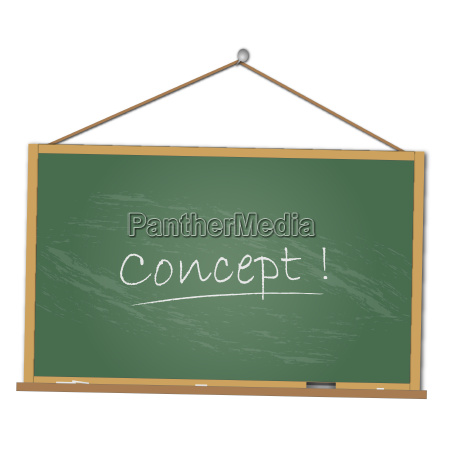 image of a concept chalkboard