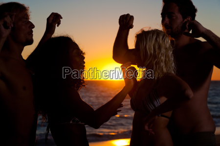people make party at the beach