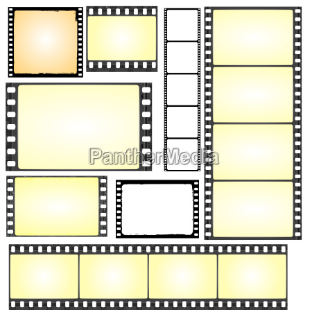 real and grunge film frames