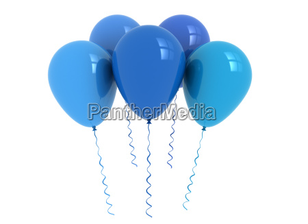 balloons blue