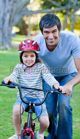 ride riding bike cycle mother father