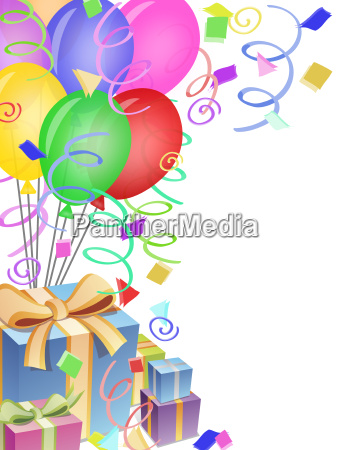 balloons with confetti for birthday party