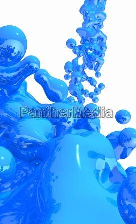 blue liquid on white background