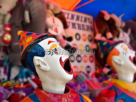 clowns at the funfair