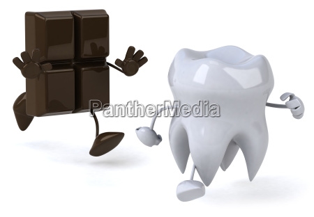 tooth and chocolate