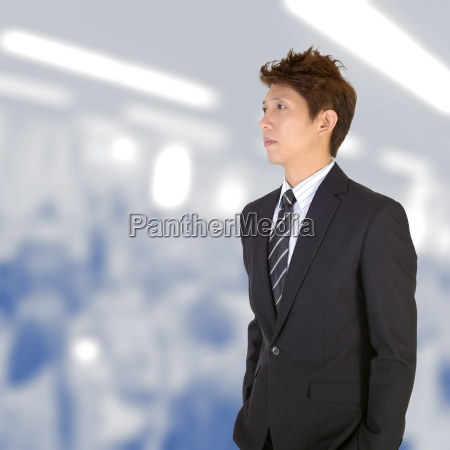 worried young handsome executive