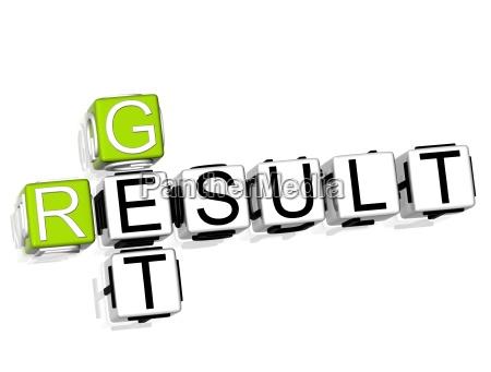 get result crossword