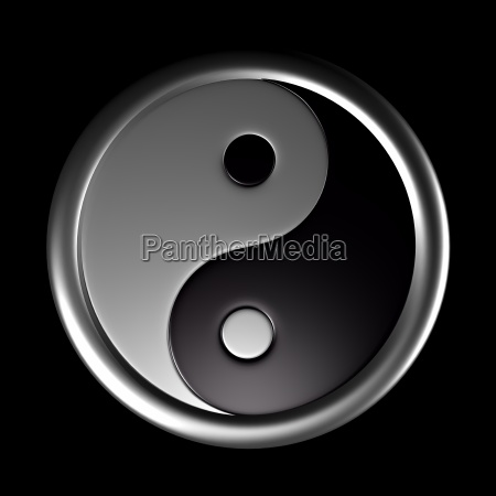 3d yin and yang symbol