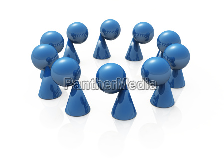 blue game pieces in a circle