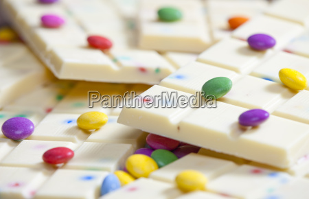 still life of white chocolate with