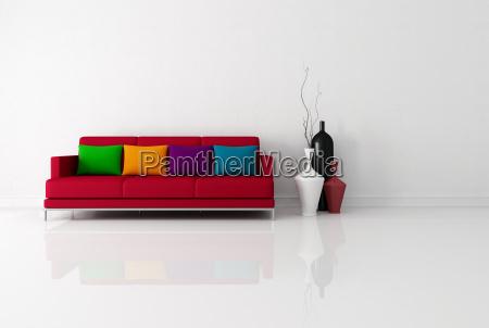 brigh minimalist living room