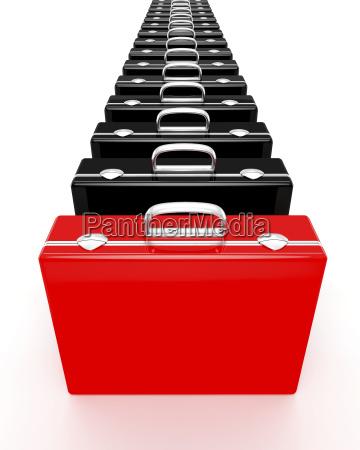 unique red briefcase