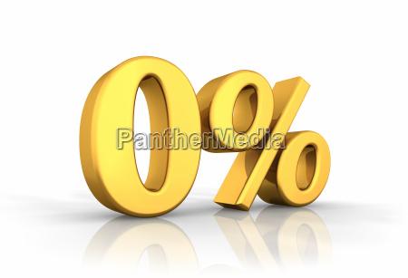 gold zero percent