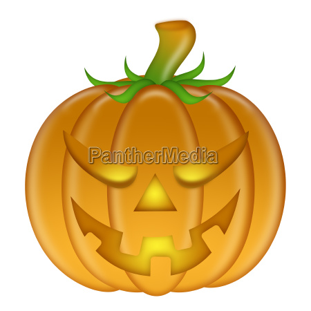 halloween carved pumpkin isolated on white