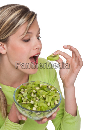 healthy lifestyle series woman eating