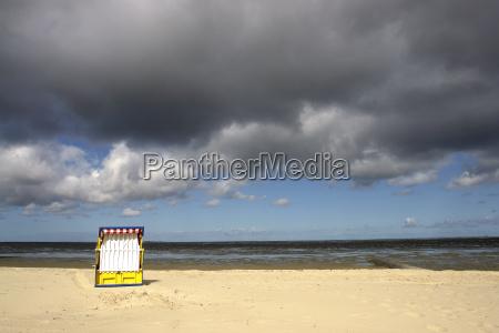 beach chair in cuxhaven