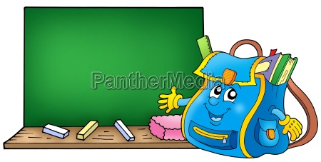 school bag with blackboard