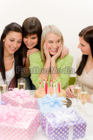 birthday party group of woman